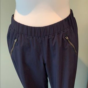 Athleta jogger navy pants with ruched bottom